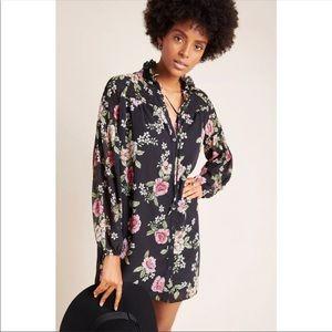 Anthropologie Yumi Kim Tunic floral Dress black XL